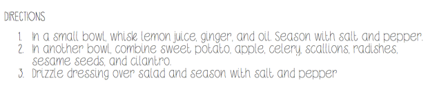 Directions sweet potato salad carpedieming